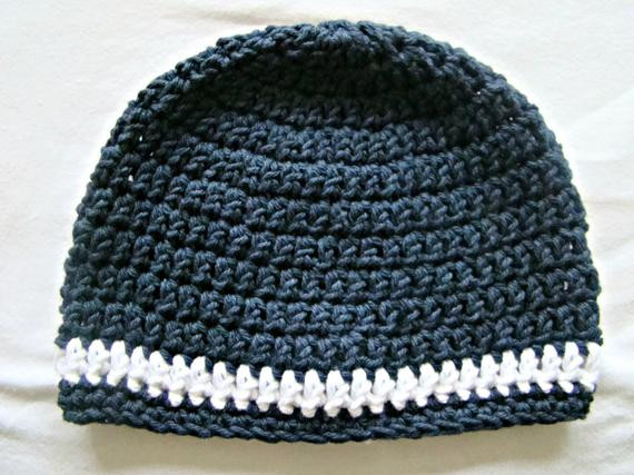 Awesome Navy and White Beanie Crochet Skull Cap Baby toddler Teen Crochet Skull Cap Of Great 43 Pics Crochet Skull Cap