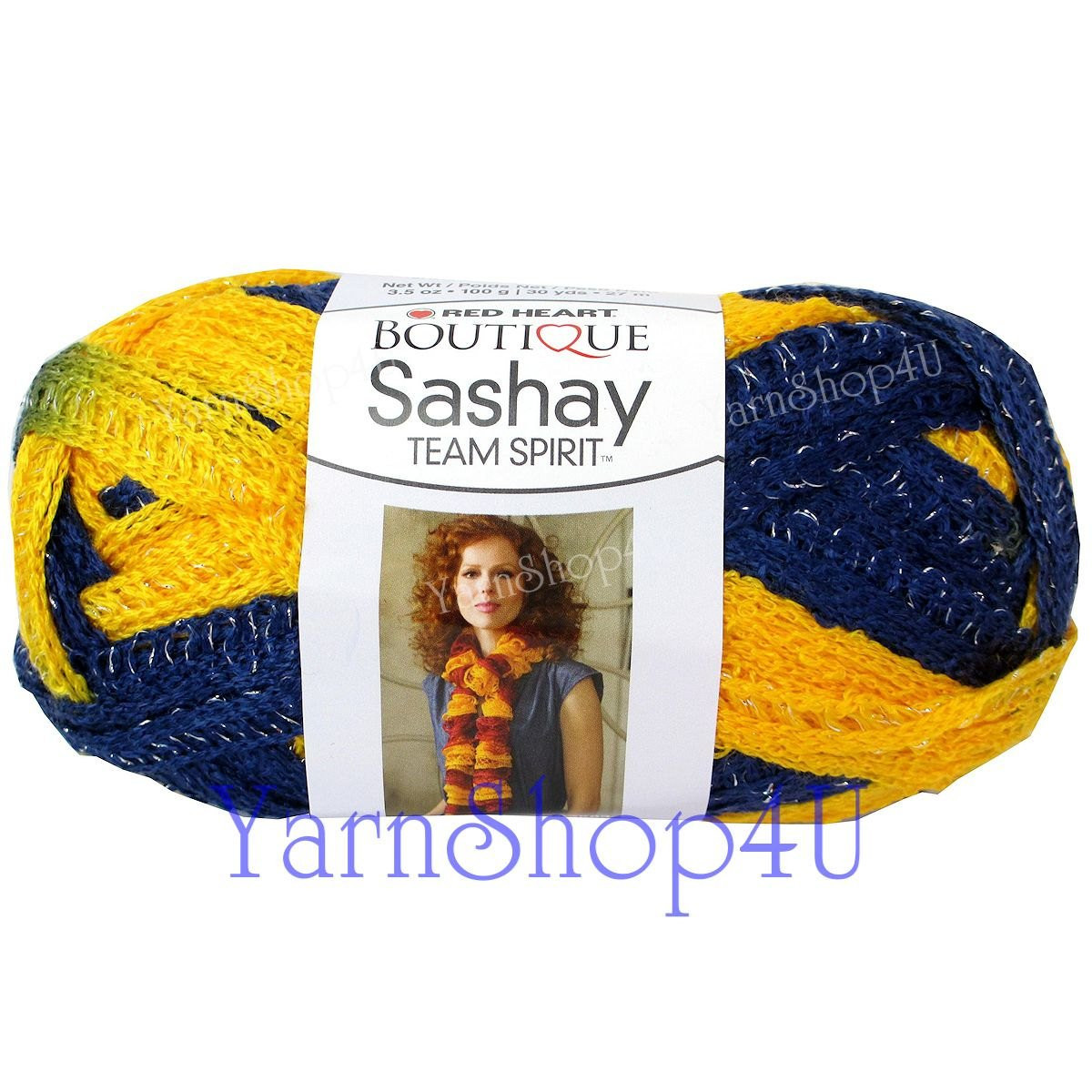 team spirit navy gold red heart yarn