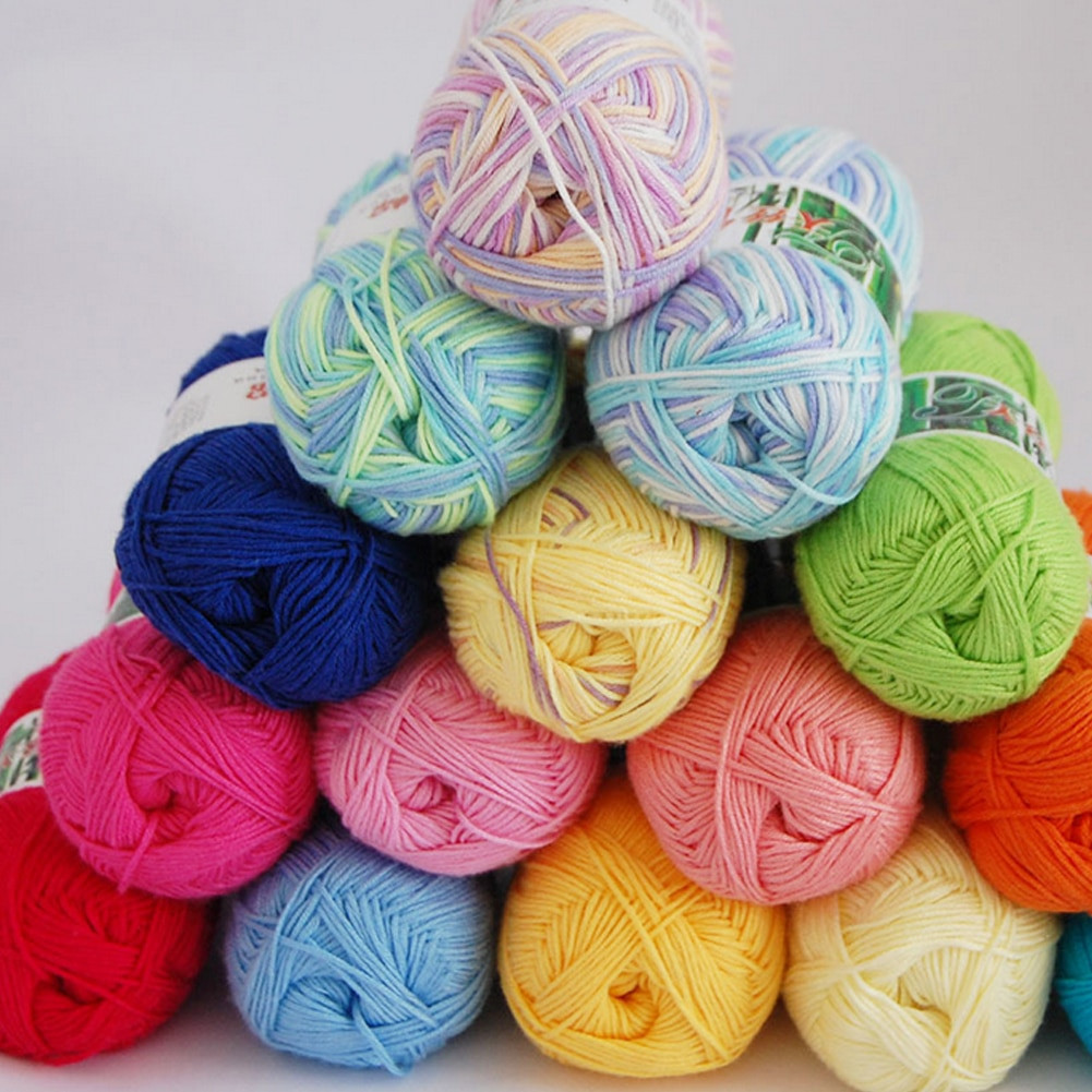 Awesome New 50g Ball soft Bamboo Crochet Cotton Knitted Yarn for Hand Crochet Yarn Of Delightful 43 Models Hand Crochet Yarn