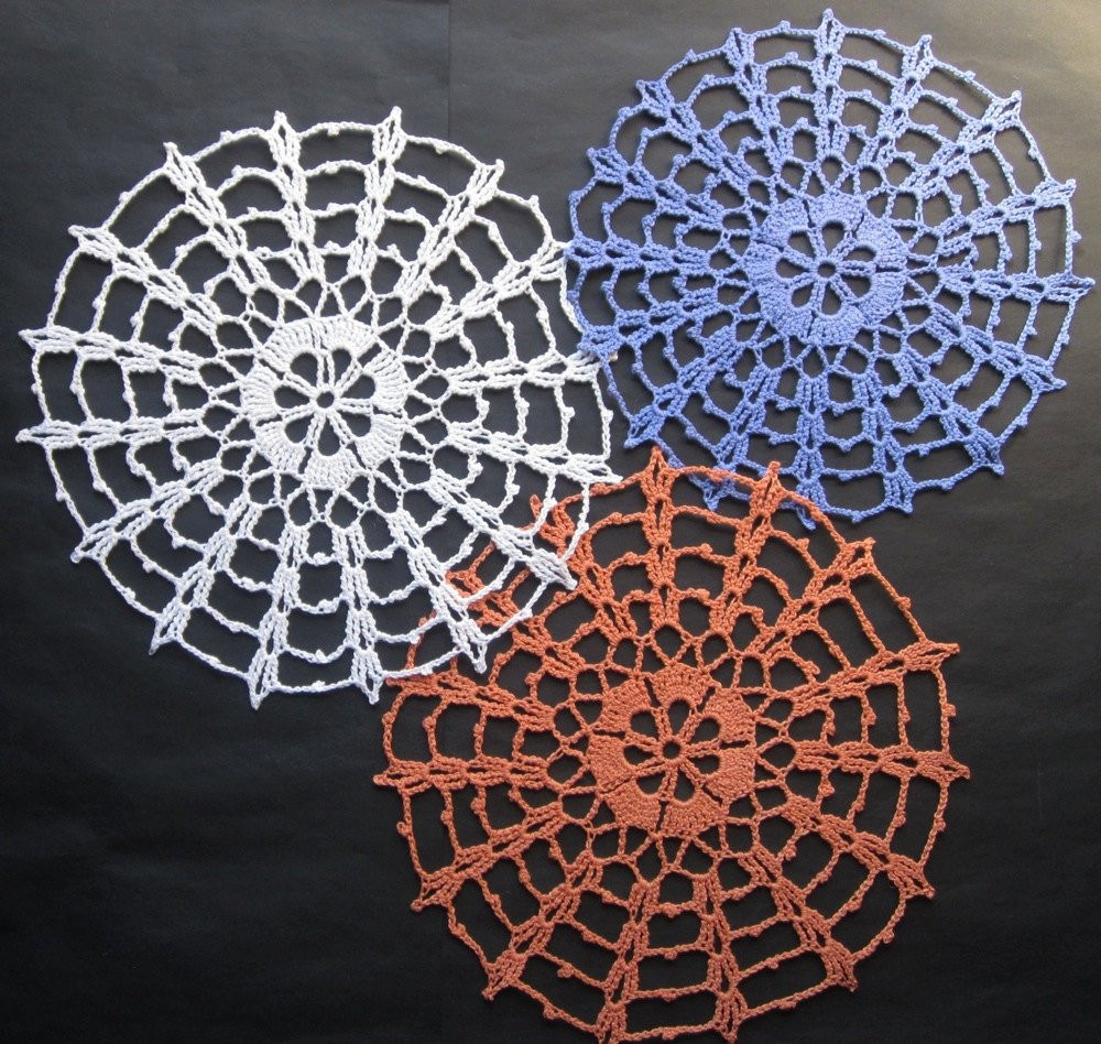 Awesome New Handmade Crocheted Cotton Spiderweb Doilies for Sale Crochet Spider Web Of Beautiful 48 Models Crochet Spider Web