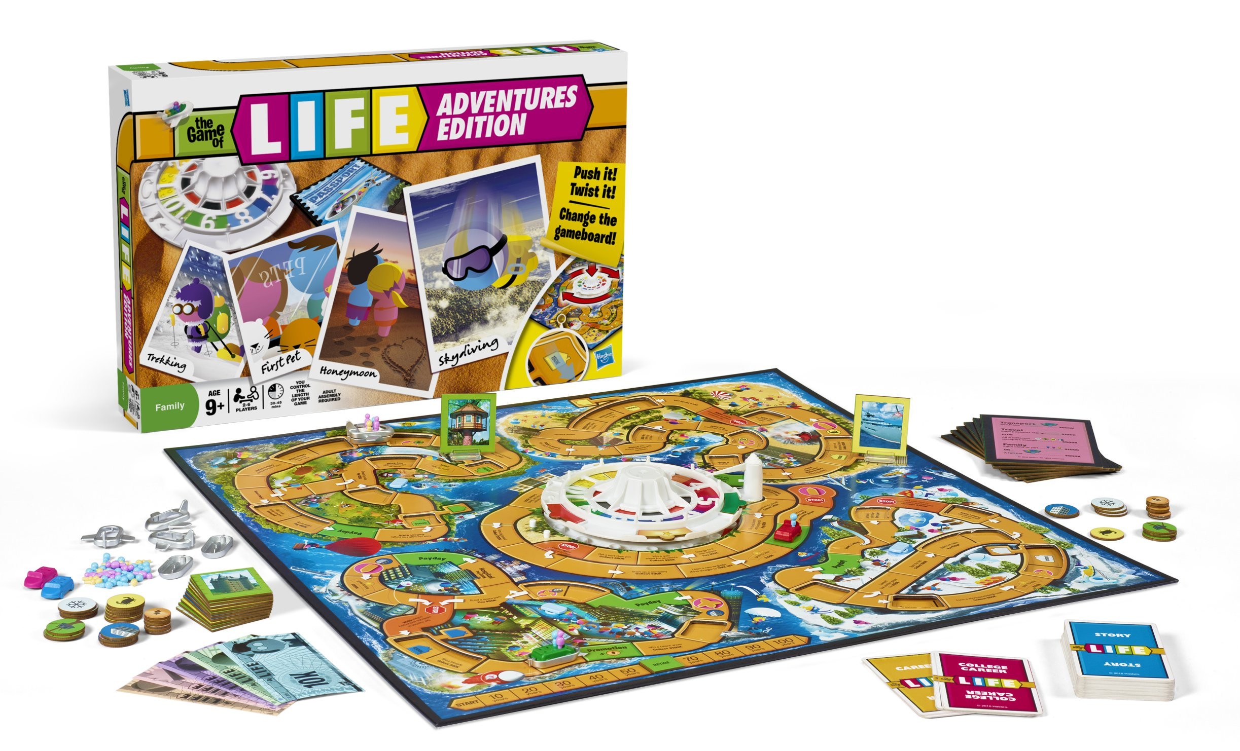 NEW HASBRO GAME OF LIFE ADVENTURES EDITION FAMILY FUN
