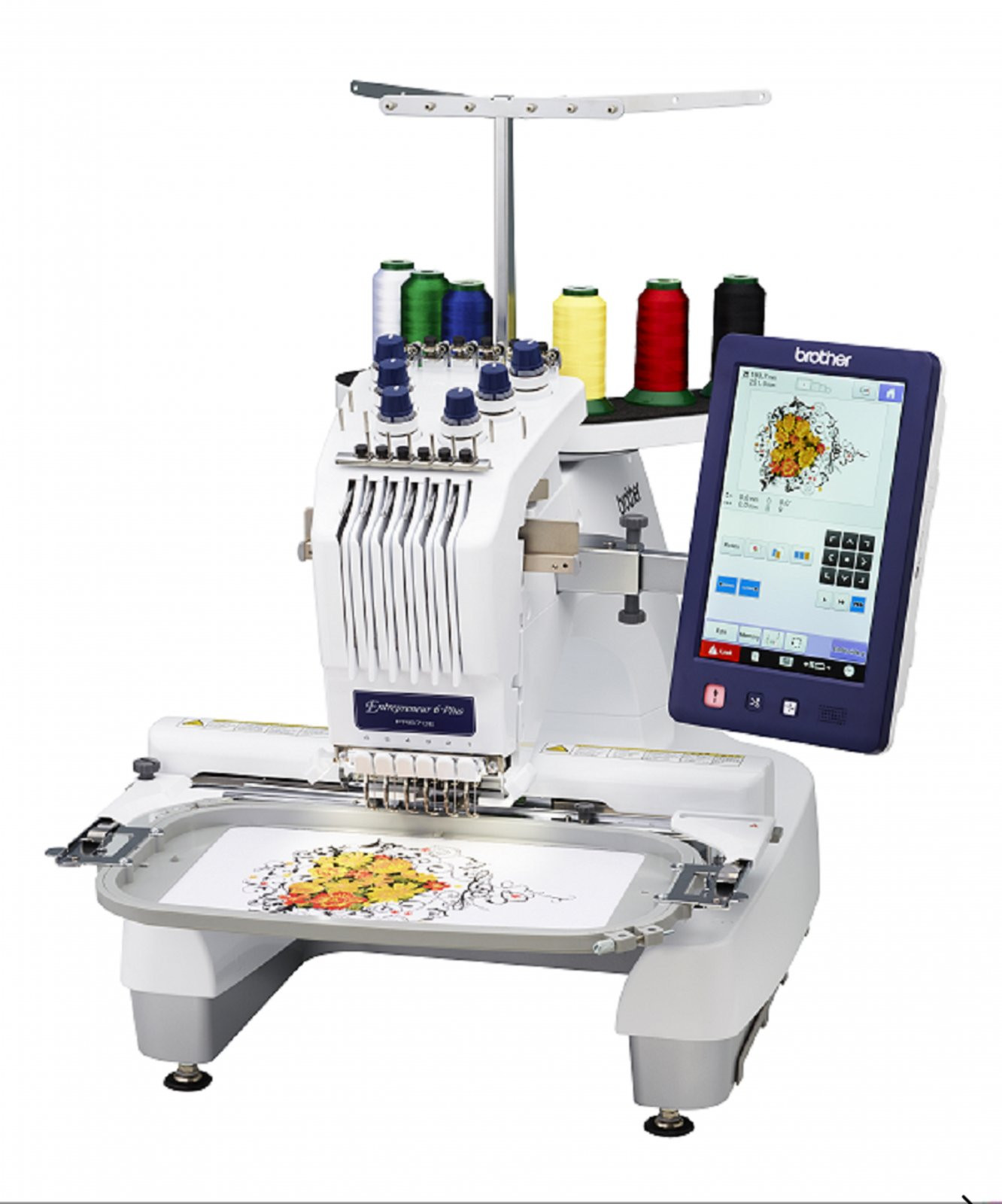 Awesome New Pr670e Six Needle Embroidery Machine 670 Embroidery Only Machines Of Perfect 49 Pics Embroidery Only Machines