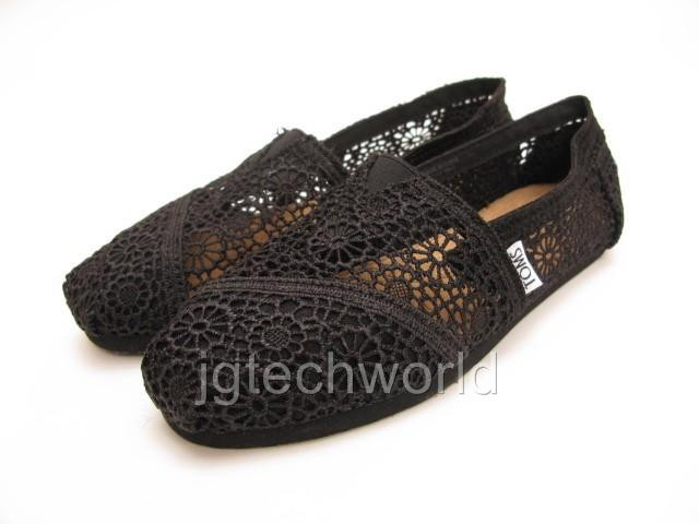 Awesome New toms Women Classic Black Crochet Shoes Slip S Flats Black Crochet toms Of Brilliant 48 Pictures Black Crochet toms
