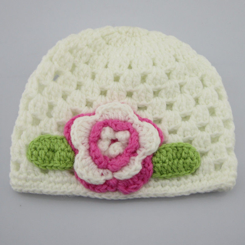 Awesome New White Baby Crochet Beanie Hat Cap Knit Flower Infant Knitting Baby Cap Of Lovely 48 Photos Knitting Baby Cap
