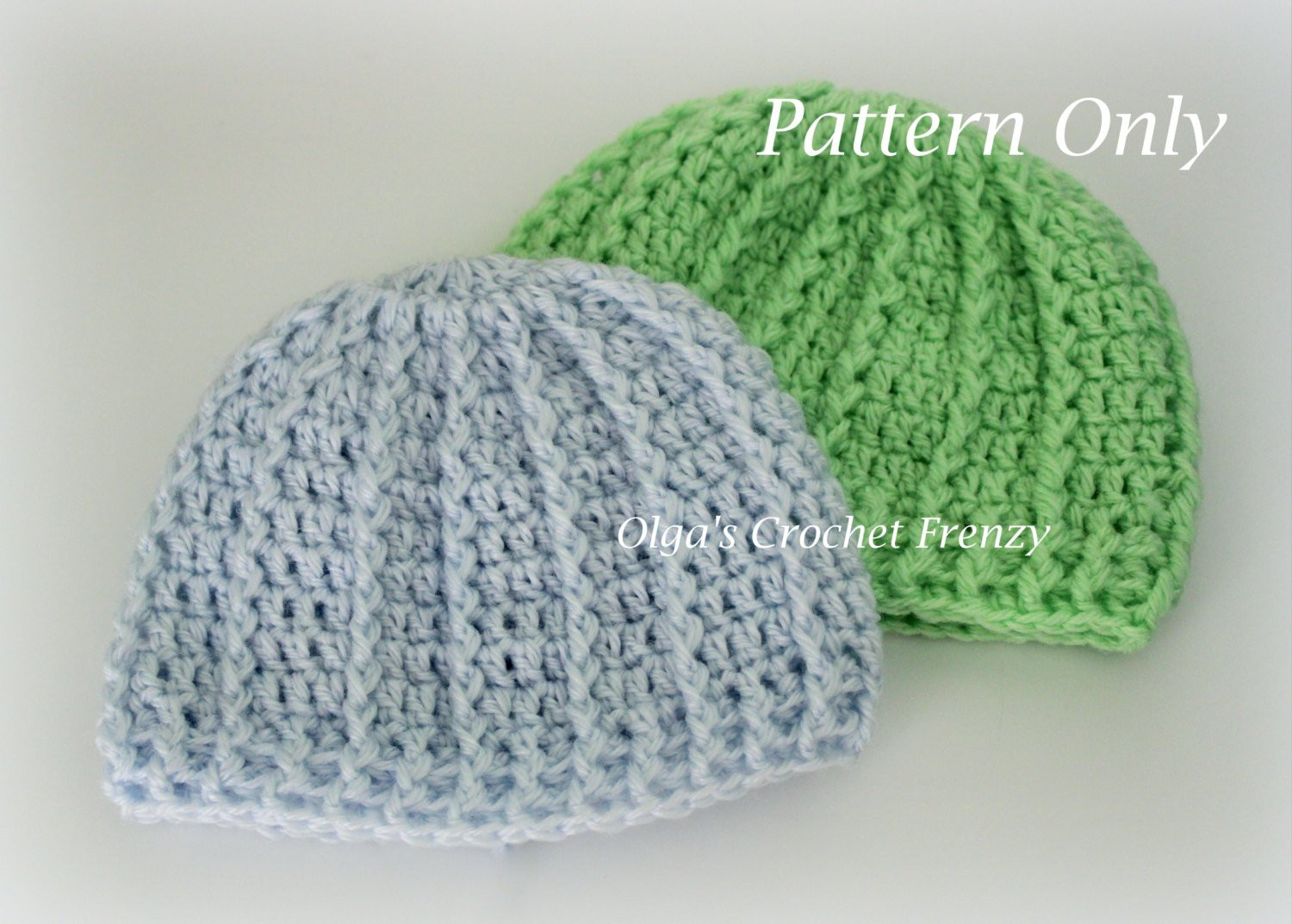 Newborn Baby Beanie Hat Crochet Pattern Quick to Make