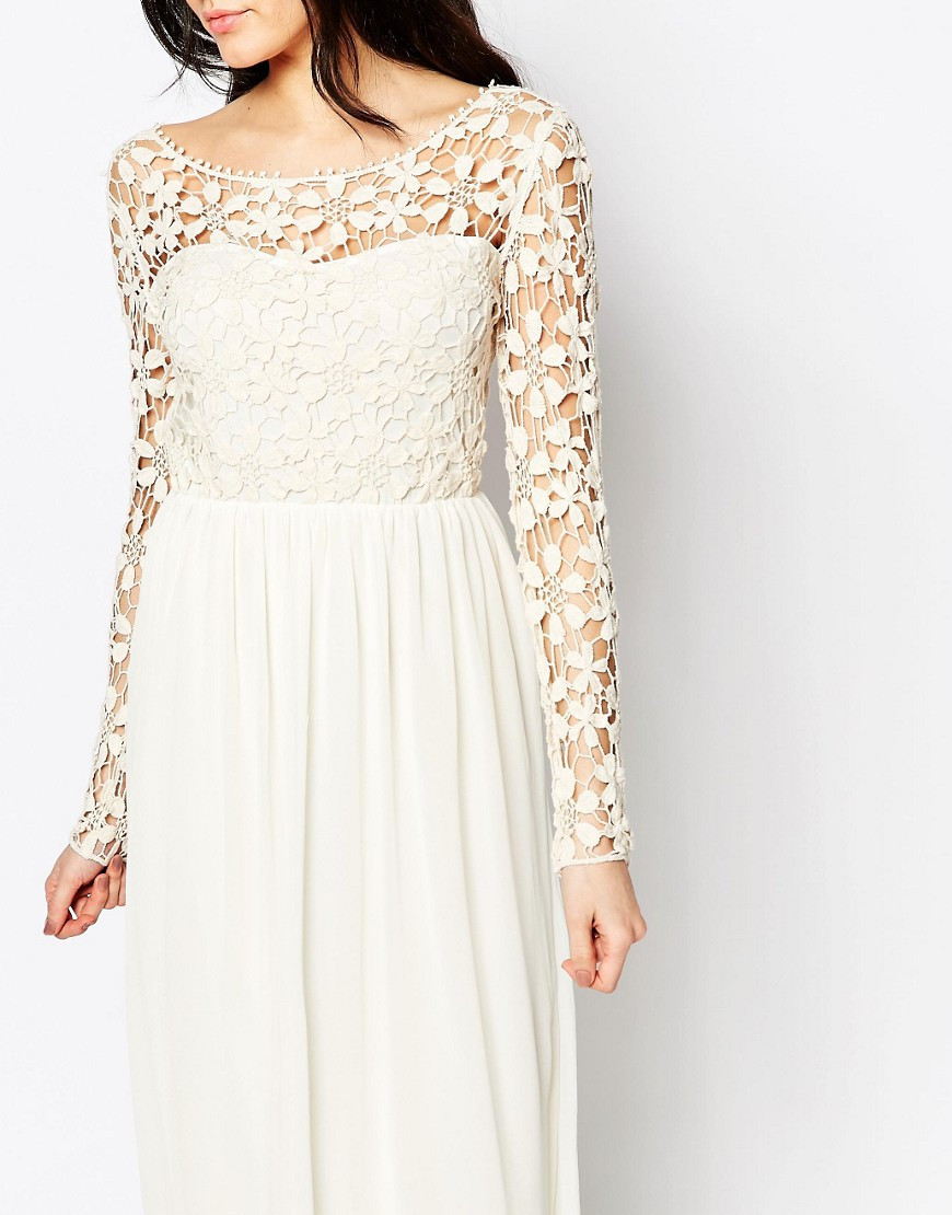 Awesome Occasion Crochet Maxi Dress with Long Sleeves by Club L Long Crochet Dress Of Lovely 48 Pics Long Crochet Dress