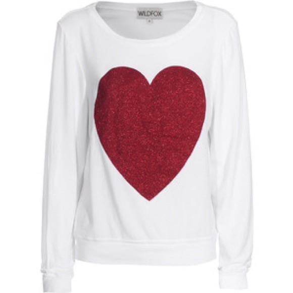 off Wildfox Sweaters ?? HP Wildfox Red Heart Sweater