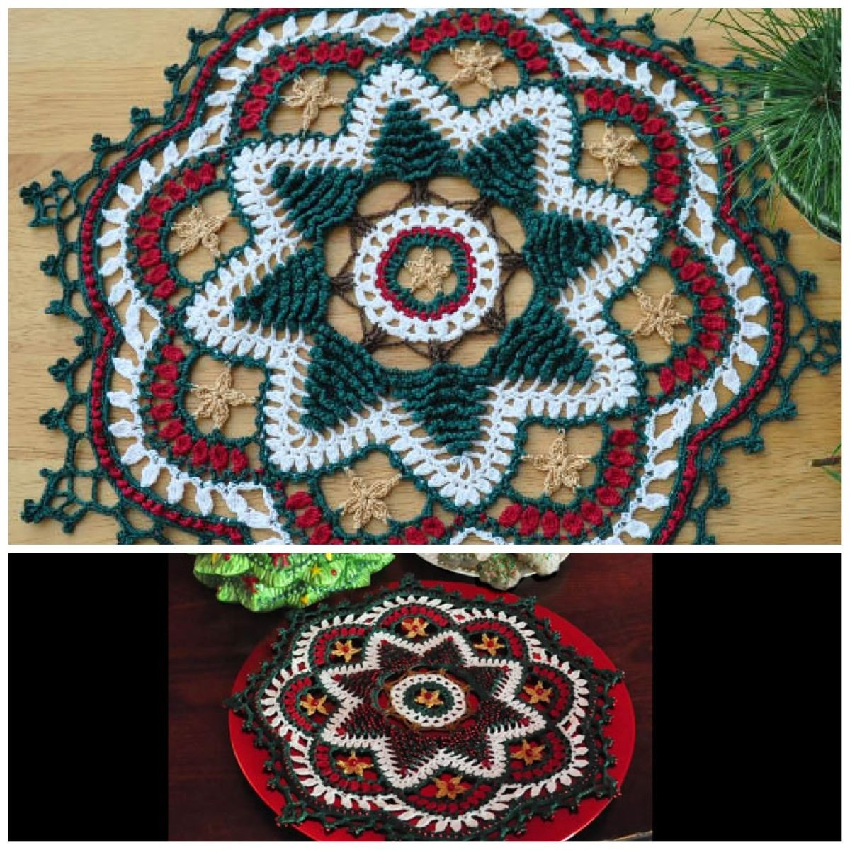Awesome Oh Christmas Tree Doily by Kathryn White Can Be Stitched Christmas Doilies Of Wonderful 44 Photos Christmas Doilies