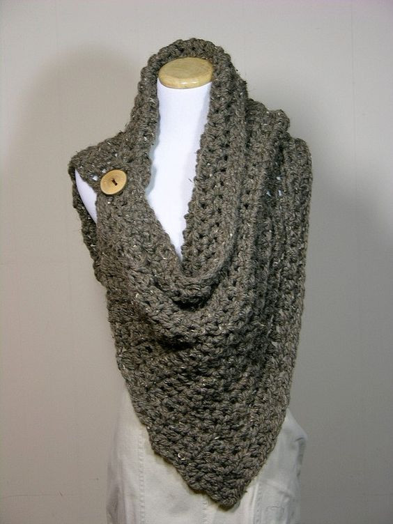 Awesome Oh I Bet I Could Crochet This Must Find some Cool buttons Crochet button Scarf Of Top 47 Images Crochet button Scarf