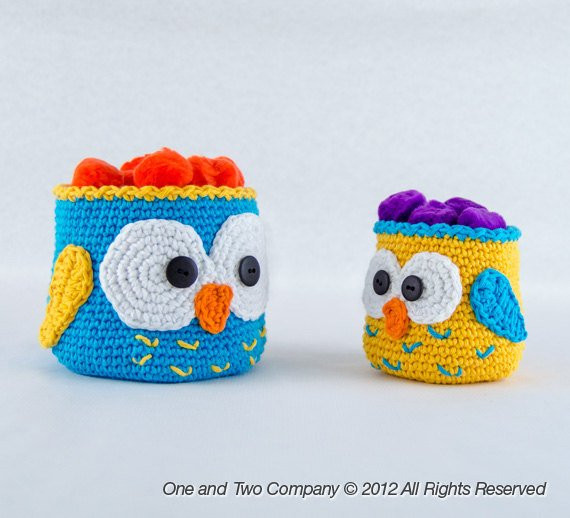 Awesome Owl Crochet Baskets 2 Sizes Pdf Crochet Pattern Crochet Owl Basket Of Brilliant 47 Photos Crochet Owl Basket