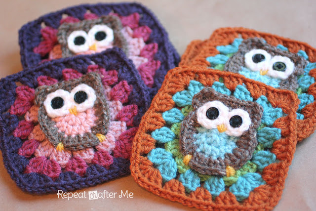 Awesome Owl Granny Square Crochet Pattern Repeat Crafter Me Free Crochet Granny Square Patterns Of Top 47 Pics Free Crochet Granny Square Patterns