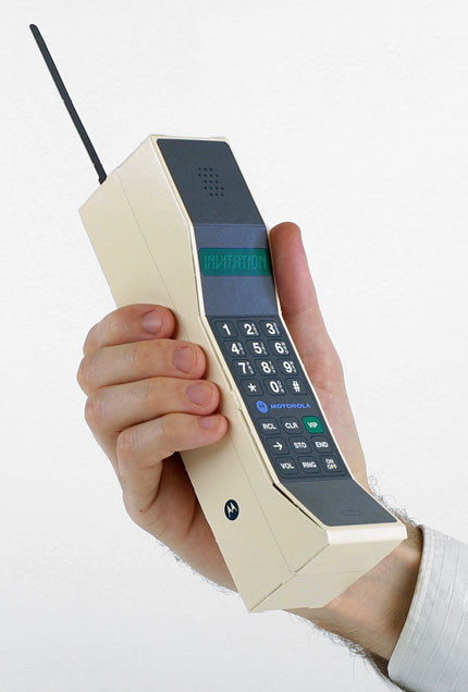 "Awesome Paper Craft Tech Old Fashioned Motorola Dynatac ""brick Old Time Phone Of Great 44 Models Old Time Phone"