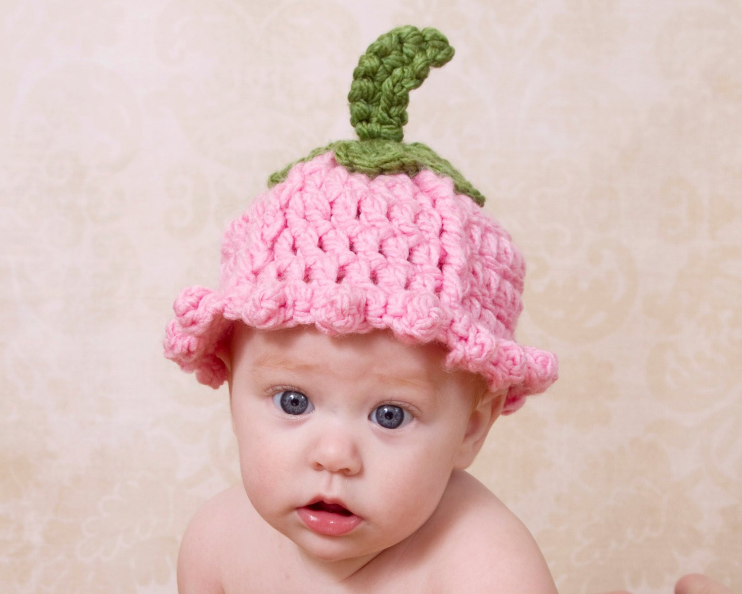 Awesome Pattern Flower Baby Hat Tulip Crochet Pattern Quick Flower Crochet Flower for Baby Hat Of Beautiful 42 Ideas Crochet Flower for Baby Hat