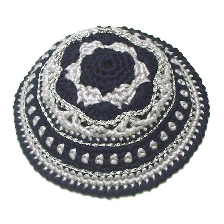PATTERN for Festive Crochet Kippah Yarmulke
