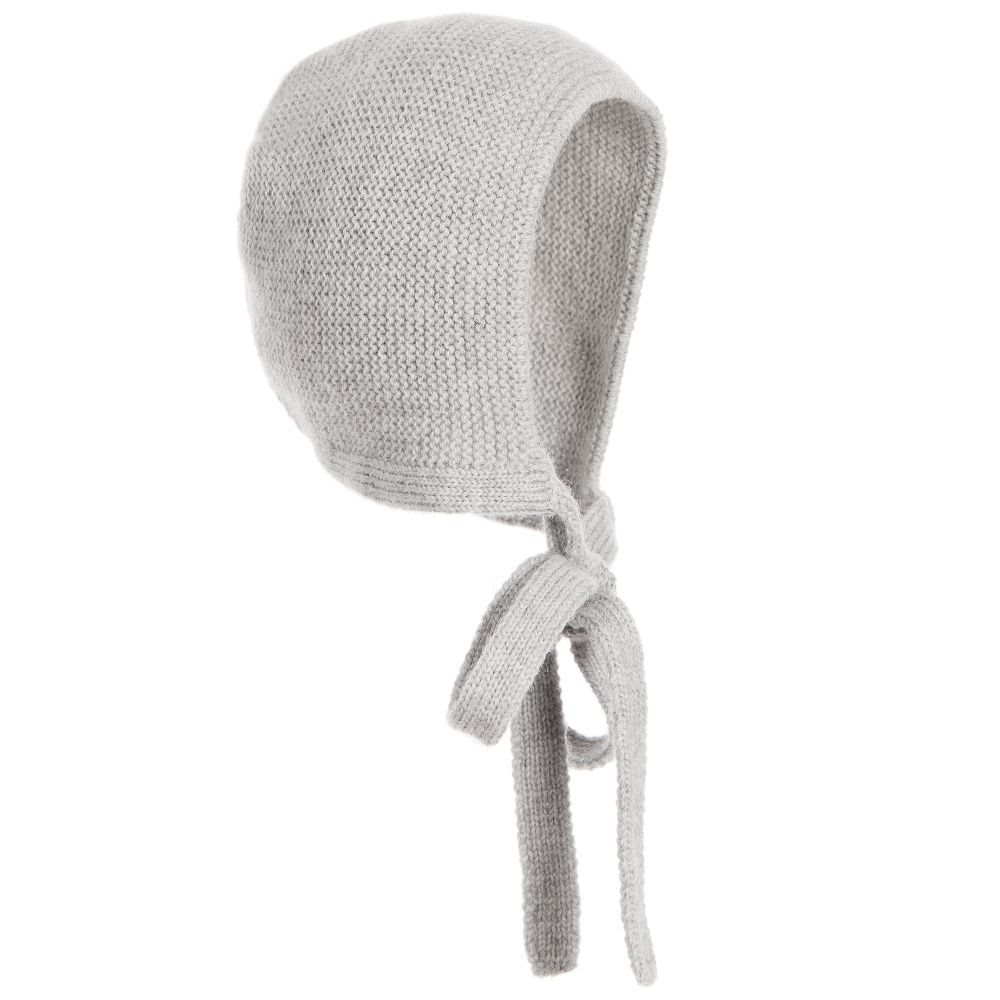 Awesome Paz Rodriguez Grey Wool Knitted Baby Bonnet Knitted Baby Bonnet Of Top 47 Pics Knitted Baby Bonnet