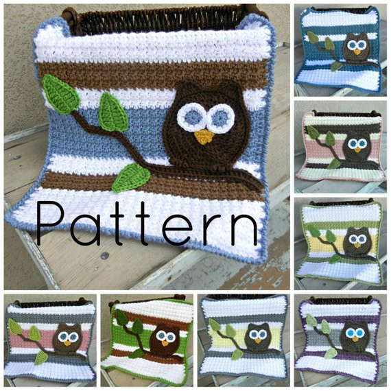 Awesome Pdf Owl Baby Blanket Lovey Size Crochet Pattern Plus Bonus Baby Blanket Size Crochet Of Contemporary 49 Pictures Baby Blanket Size Crochet