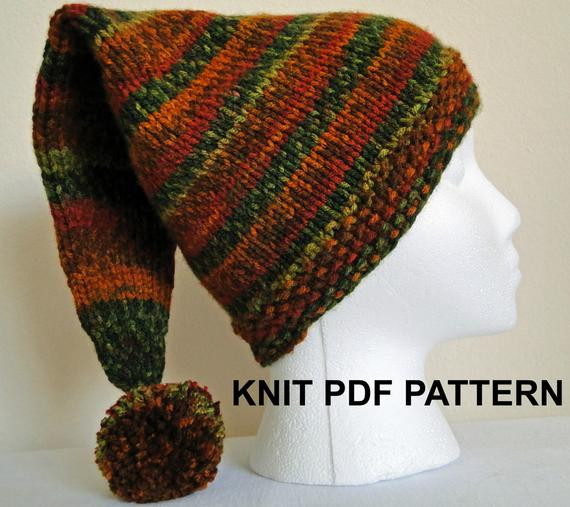 Awesome Pdf Pattern Knit Adult Stocking Hat Ski Hat by Knit Stocking Cap Pattern Of Top 50 Photos Knit Stocking Cap Pattern