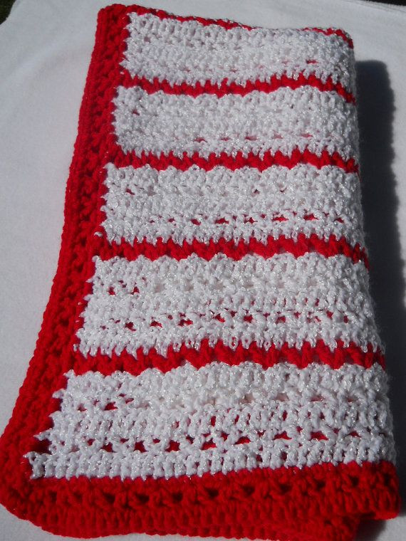 Awesome Peppermint Crochet Baby Afghan In Red and by Peppermint Crochet Blanket Of Top 45 Models Peppermint Crochet Blanket
