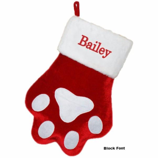 Awesome Personalized Dog Paw Christmas Stocking Dog Paw Stocking Of Charming 44 Ideas Dog Paw Stocking