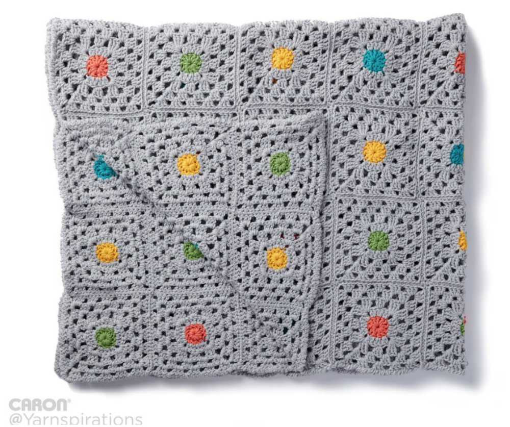 Awesome Pin Point – Blanket with Central Flower Motif [free Motif Blanket Of Contemporary 49 Models Motif Blanket