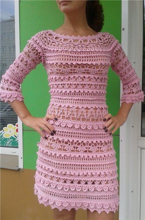 Awesome Pink Crochet Dress Crochet Clothing Patterns Of Amazing 44 Pics Crochet Clothing Patterns