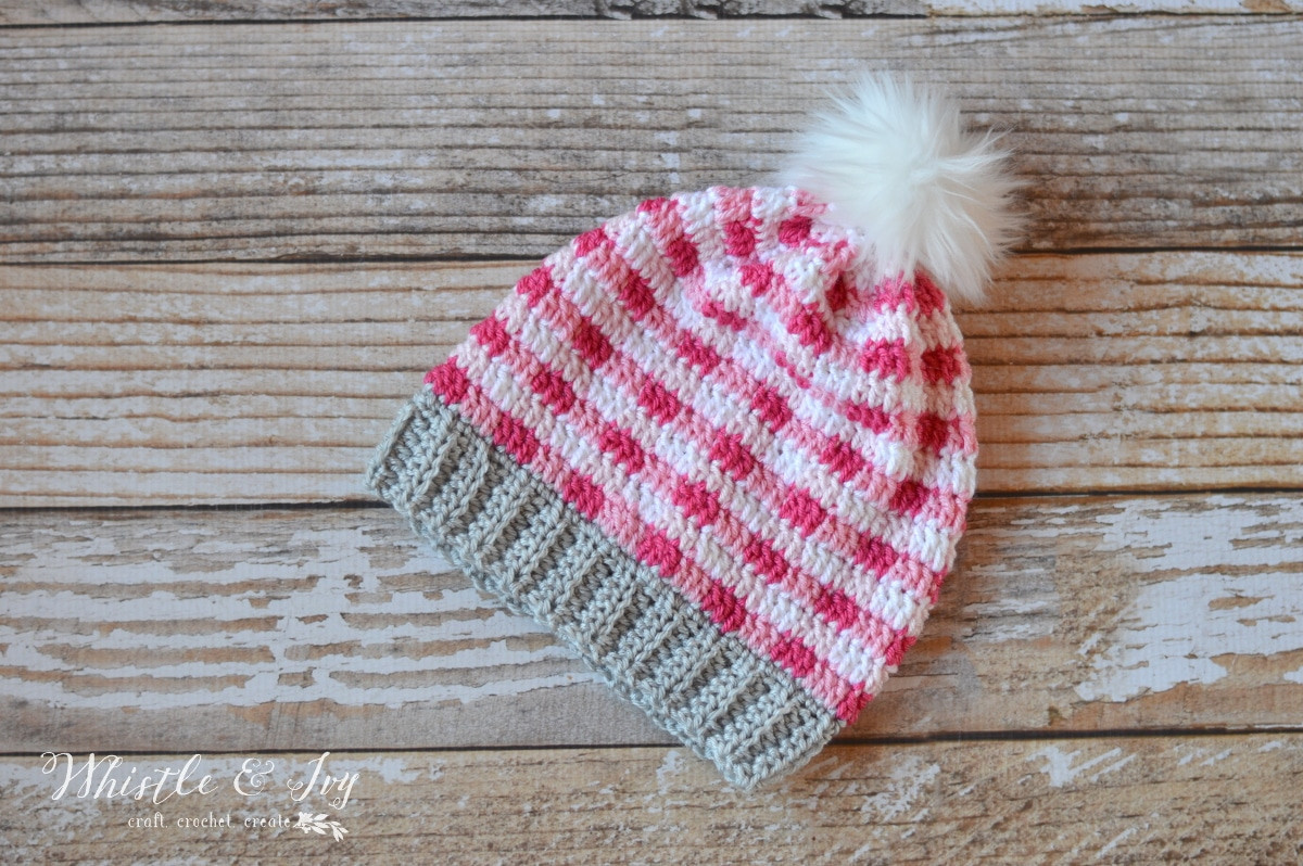 Awesome Pink Crochet Plaid Slouchy Whistle and Ivy Pink Crochet Hat Of Great 43 Models Pink Crochet Hat