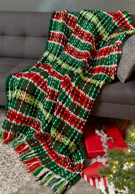 Awesome Plaid Christmas Crochet Afghan Pattern Christmas Afghan Crochet Pattern Of Incredible 40 Ideas Christmas Afghan Crochet Pattern