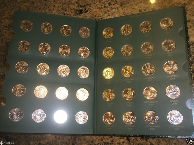 Awesome Plete 112 State Quarter Collection W Us Territories Us State Quarter Collection Of Charming 49 Ideas Us State Quarter Collection