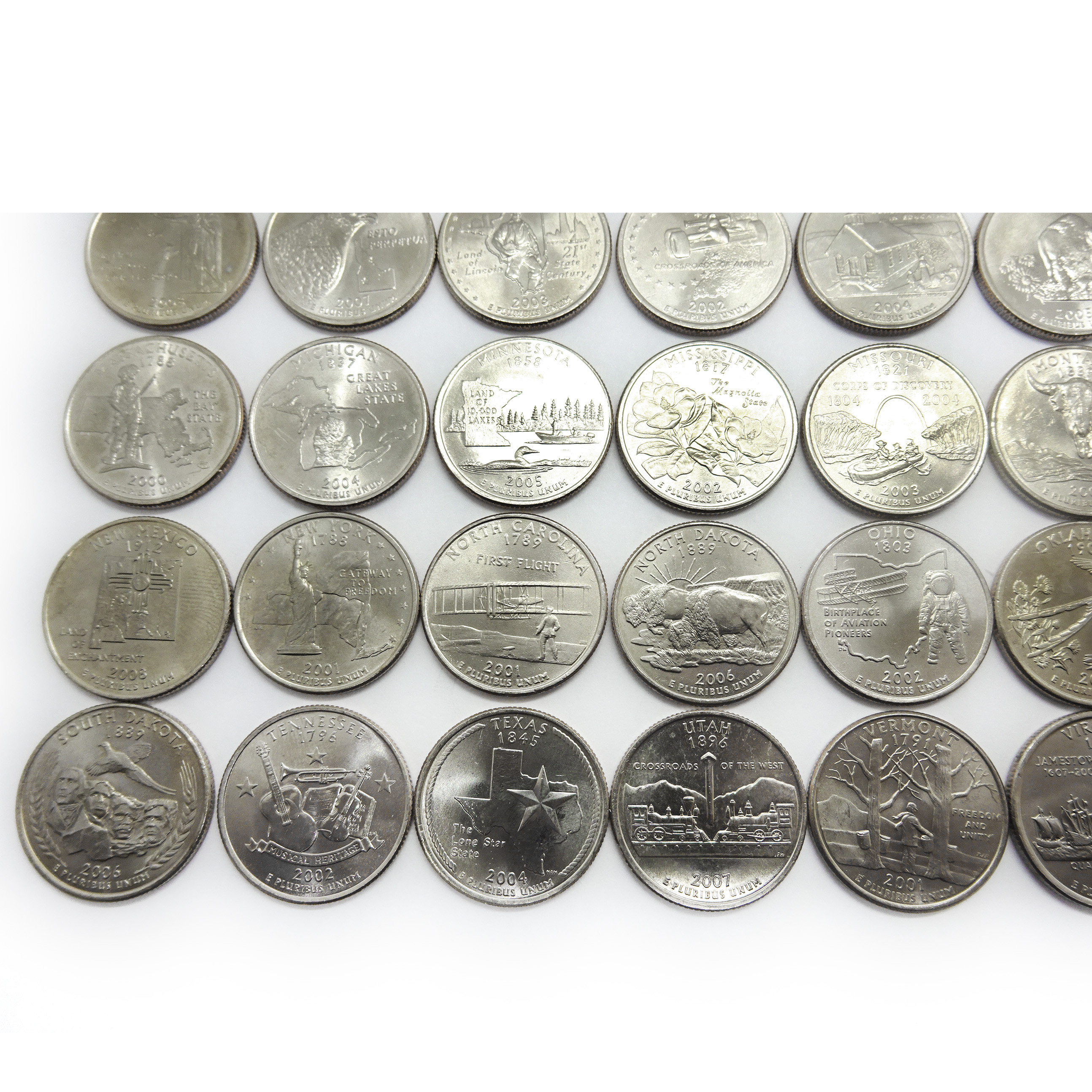 Awesome Plete Us State Quarter Set 50 Coins 1999 2008 Auctions Us State Quarter Collection Of Charming 49 Ideas Us State Quarter Collection