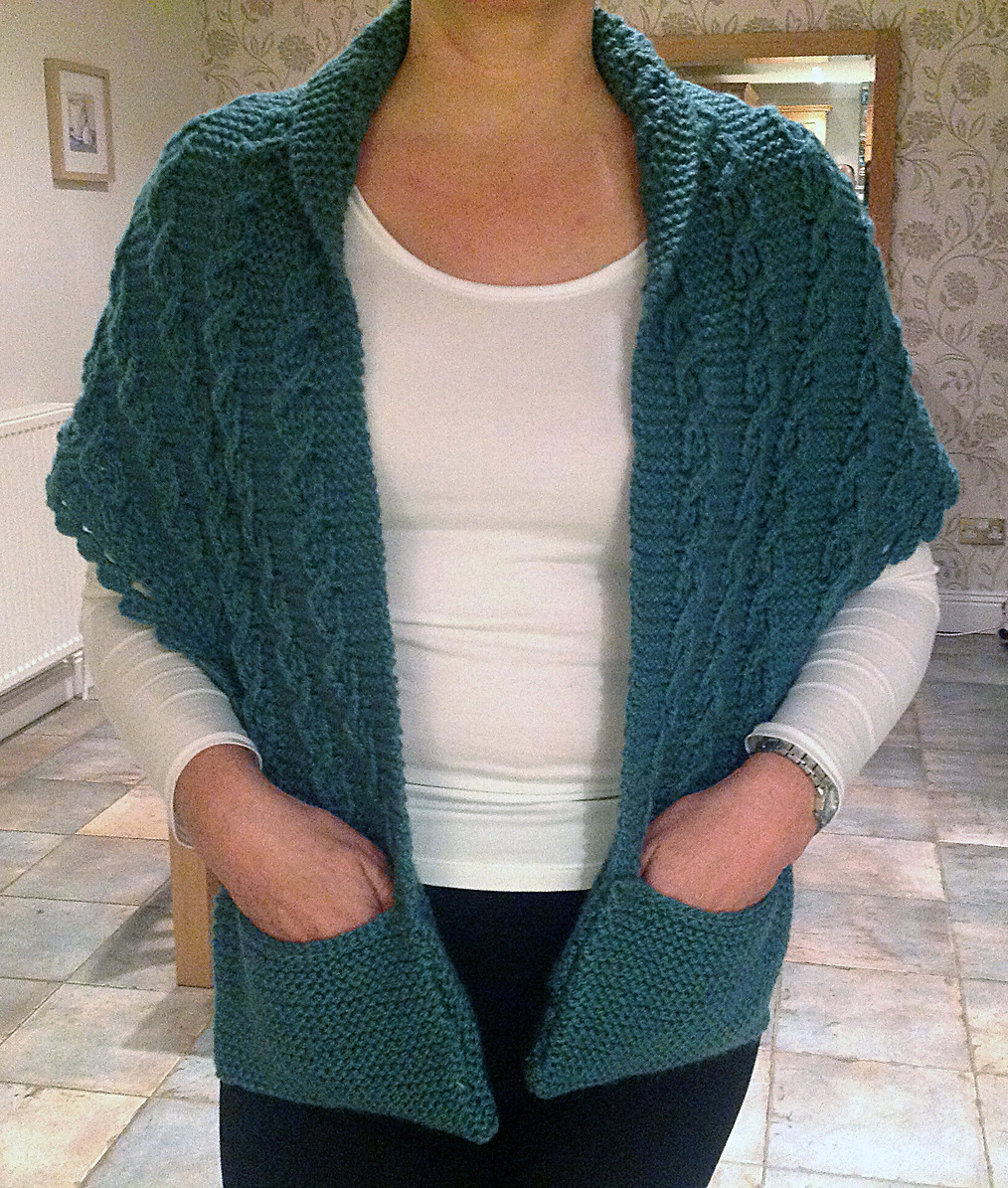 Awesome Pocket Wrap Knitting Patterns Knitted Wrap Pattern Of Adorable 40 Photos Knitted Wrap Pattern
