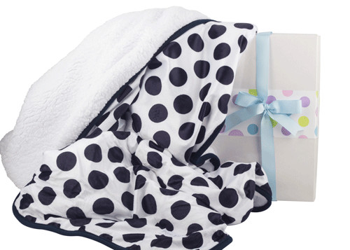 Awesome Polka Dots Navy Cot Blanket – Baby Stitch Polka Dot Baby Blanket Of Innovative 50 Pictures Polka Dot Baby Blanket