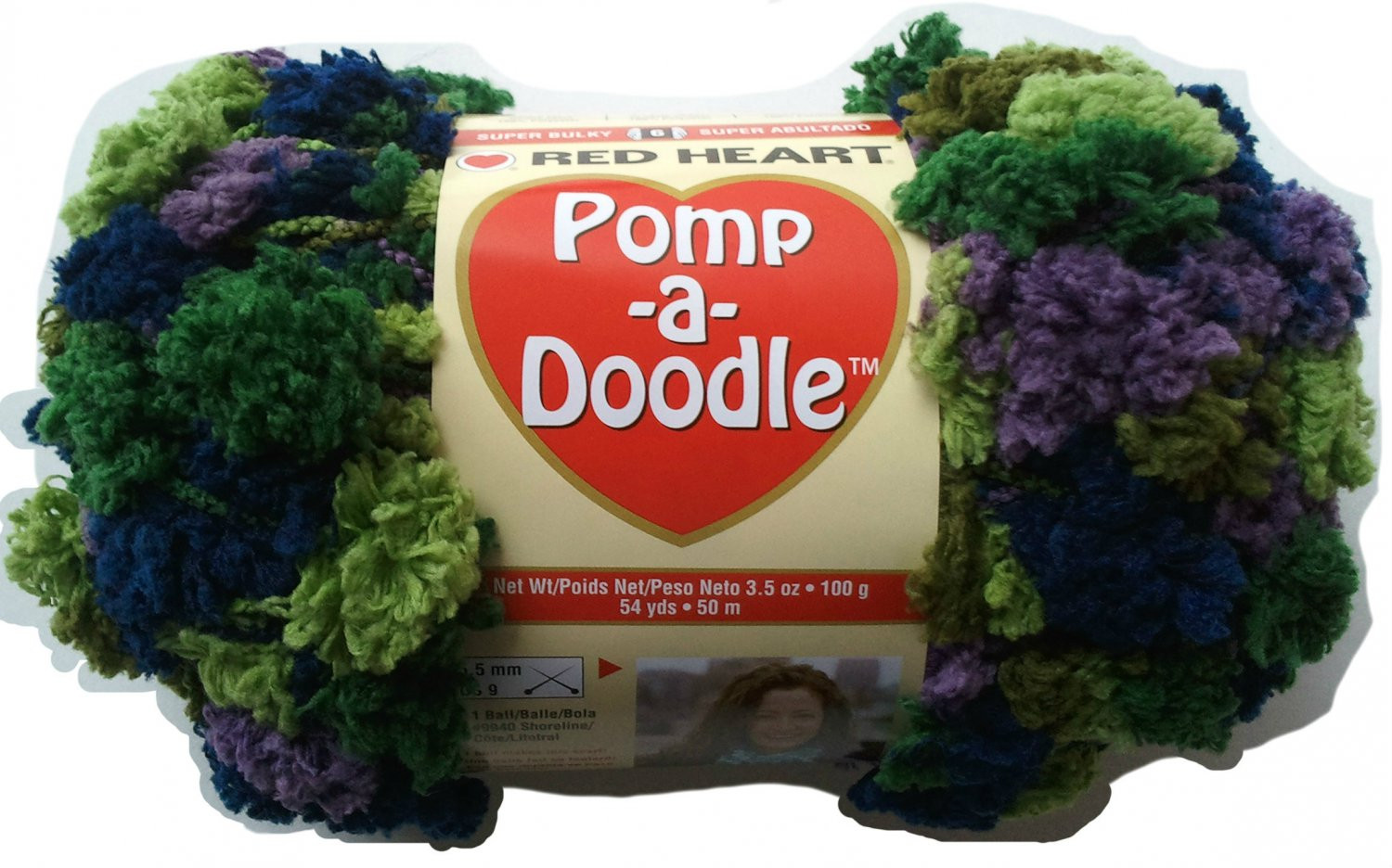 Pomp A Doodle Yarn Red Heart 3 5 oz 54 yards African