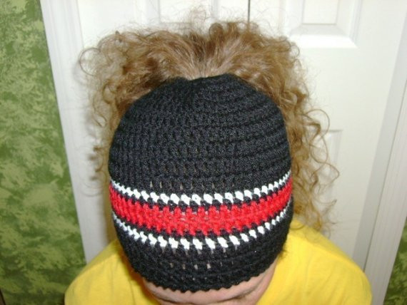 Awesome Ponytail Hats – Tag Hats Crochet Hat with Ponytail Hole Of Attractive 47 Pics Crochet Hat with Ponytail Hole