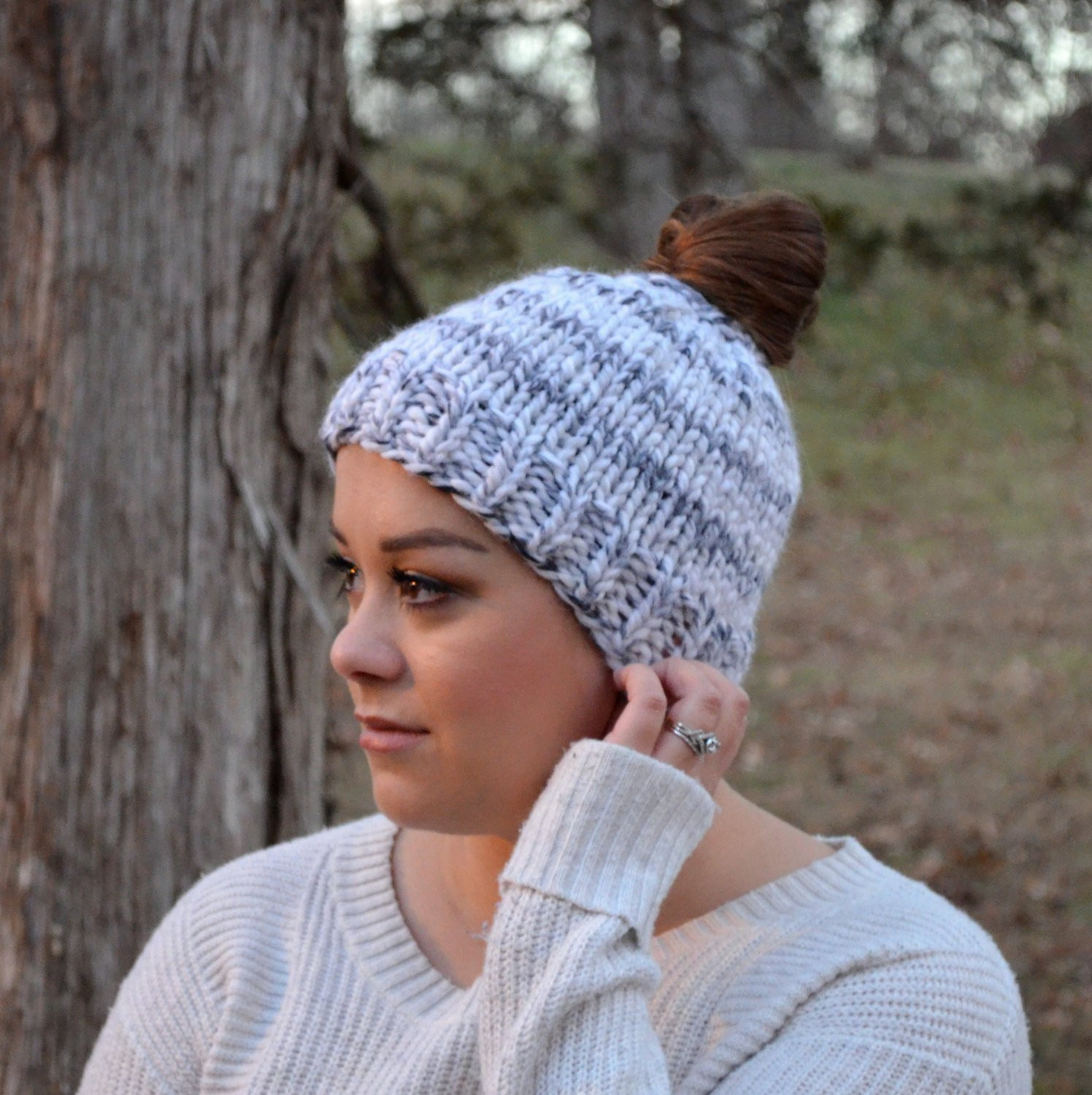 Awesome Ponytail Knit Hat Messy Bun Hat Jogging Hat by theknitpicky Free Knitting Pattern for Messy Bun Hat Of Delightful 40 Pictures Free Knitting Pattern for Messy Bun Hat