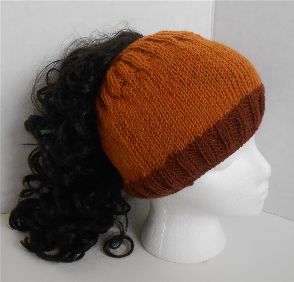 Awesome Ponytail Messy Bun Hat Merino Wool Hats Knit Lightweight Knitted Messy Bun Hat Of Luxury 50 Models Knitted Messy Bun Hat