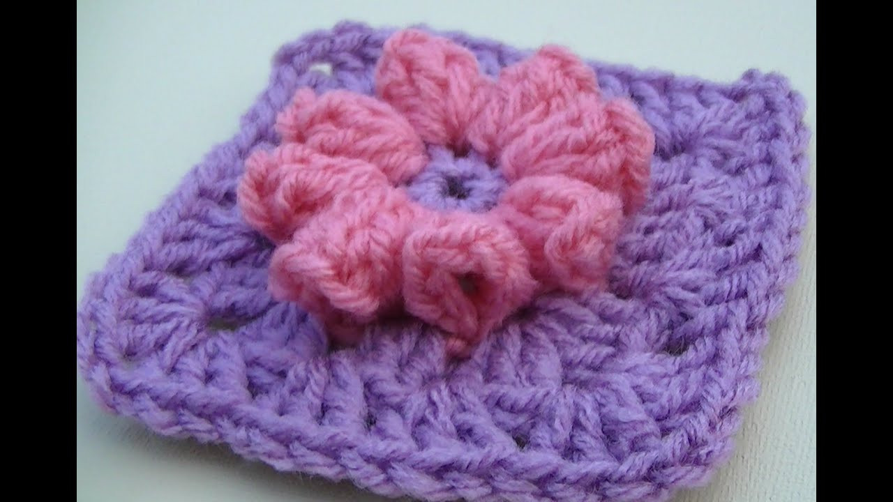 Awesome Popcorn Flower Granny Square Crochet Tutorial Granny Square Tutorial Of Charming 40 Ideas Granny Square Tutorial