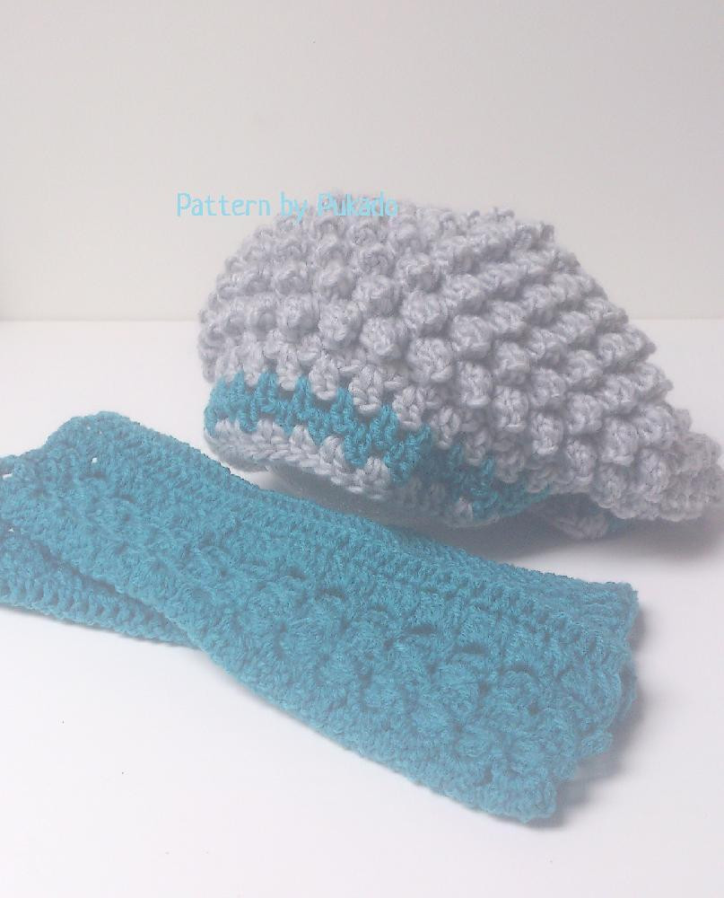 PopCorn stitch Slouch Hat Crochet pattern by Patricia