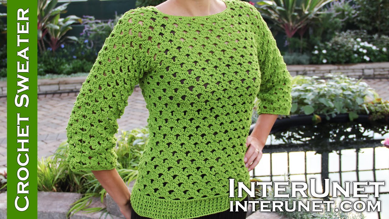 Popular how to design a crochet sweater pattern lace