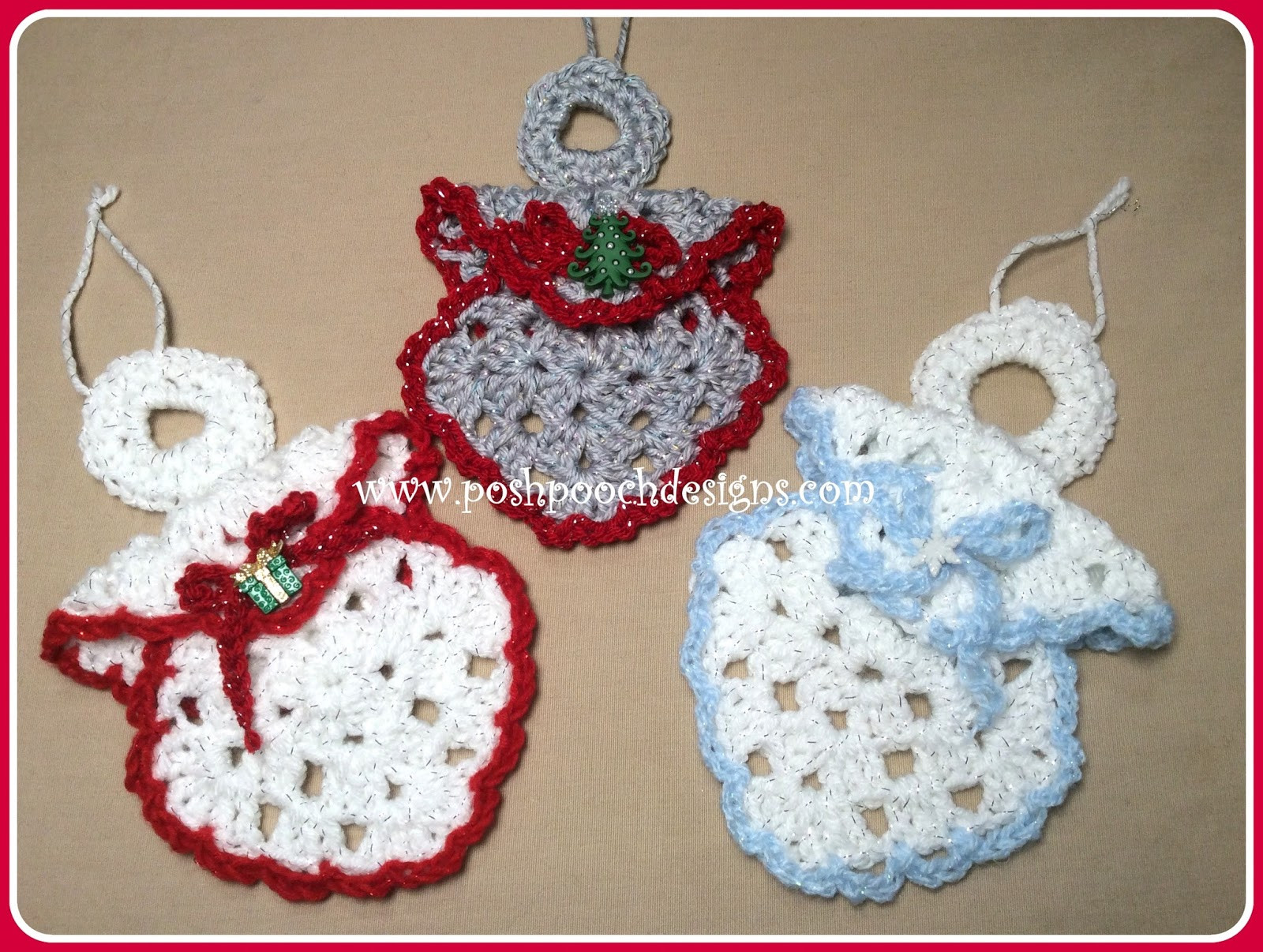 Awesome Posh Pooch Designs Dog Clothes Granny Square Angel Crochet ornament Patterns Of Beautiful 40 Pictures Crochet ornament Patterns