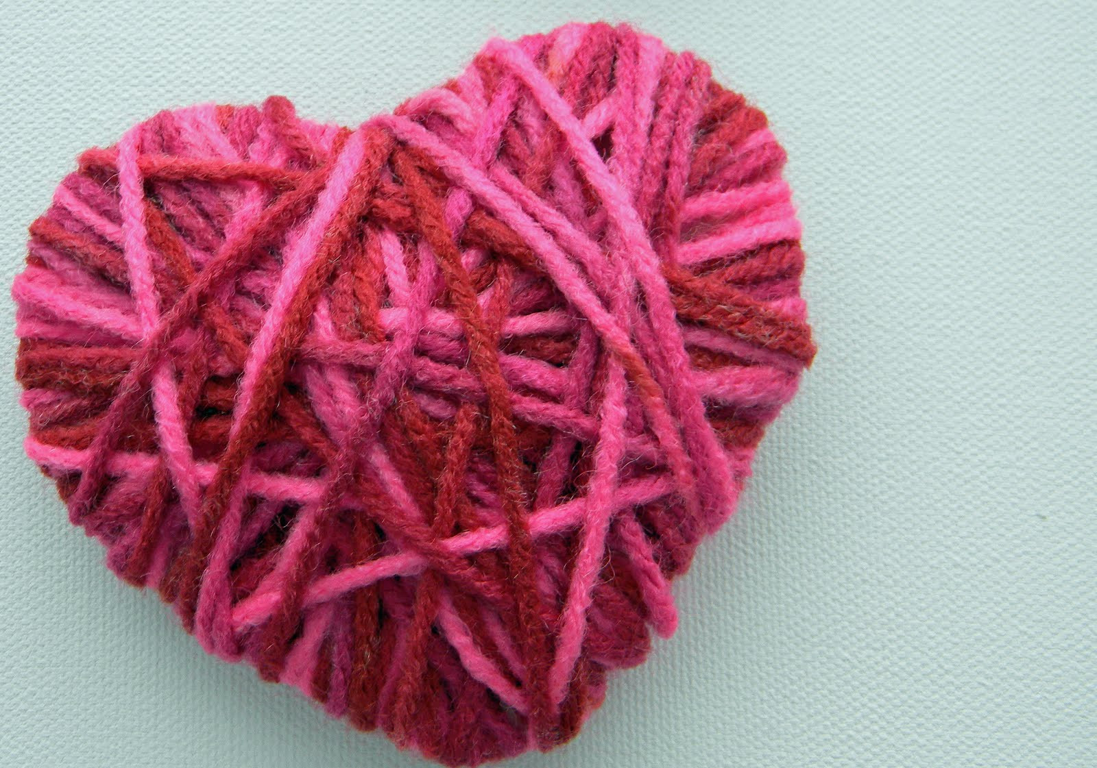Preschool Crafts for Kids Valentine s Day Yarn Heart Craft