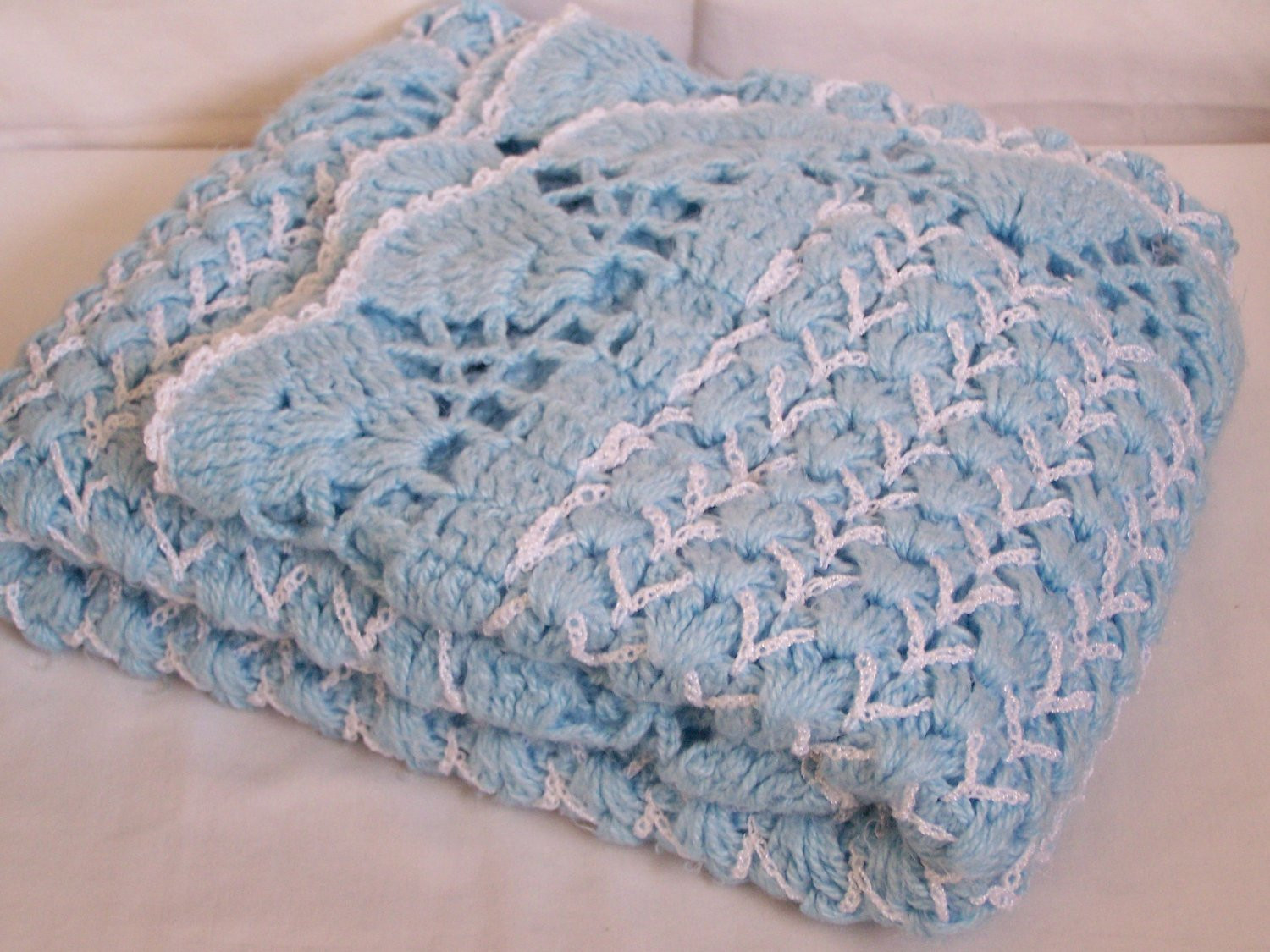 Awesome Pretty Vintage Crochet Baby Blanket Blue & White Gorgeous Vintage Baby Blankets Of Adorable 44 Images Vintage Baby Blankets
