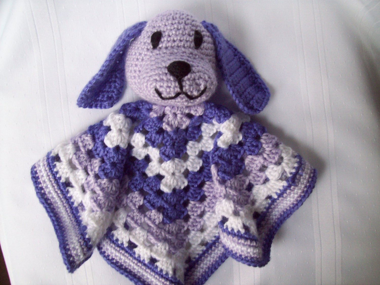 Awesome Puppy Blanket toy Crochet Puppy Lovey Crochet Purple Crochet Lovey Blanket Of Attractive 46 Pics Crochet Lovey Blanket