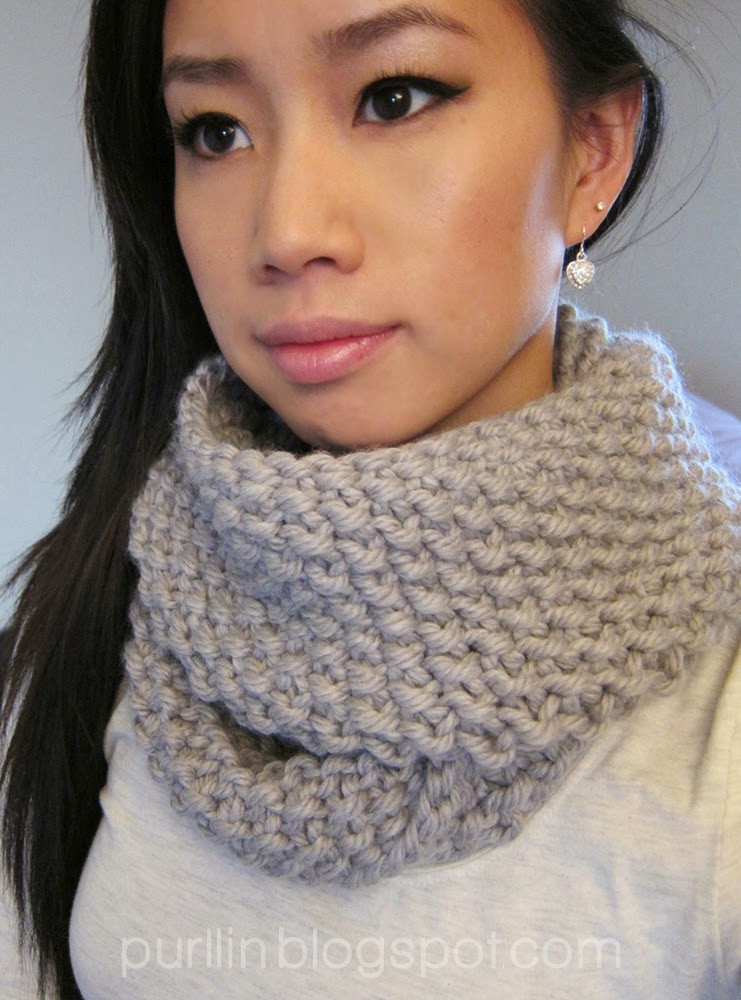 Awesome Purllin December Seed Stitch Infinity Circle Scarf [ Free Free Infinity Scarf Pattern Of Marvelous 48 Images Free Infinity Scarf Pattern