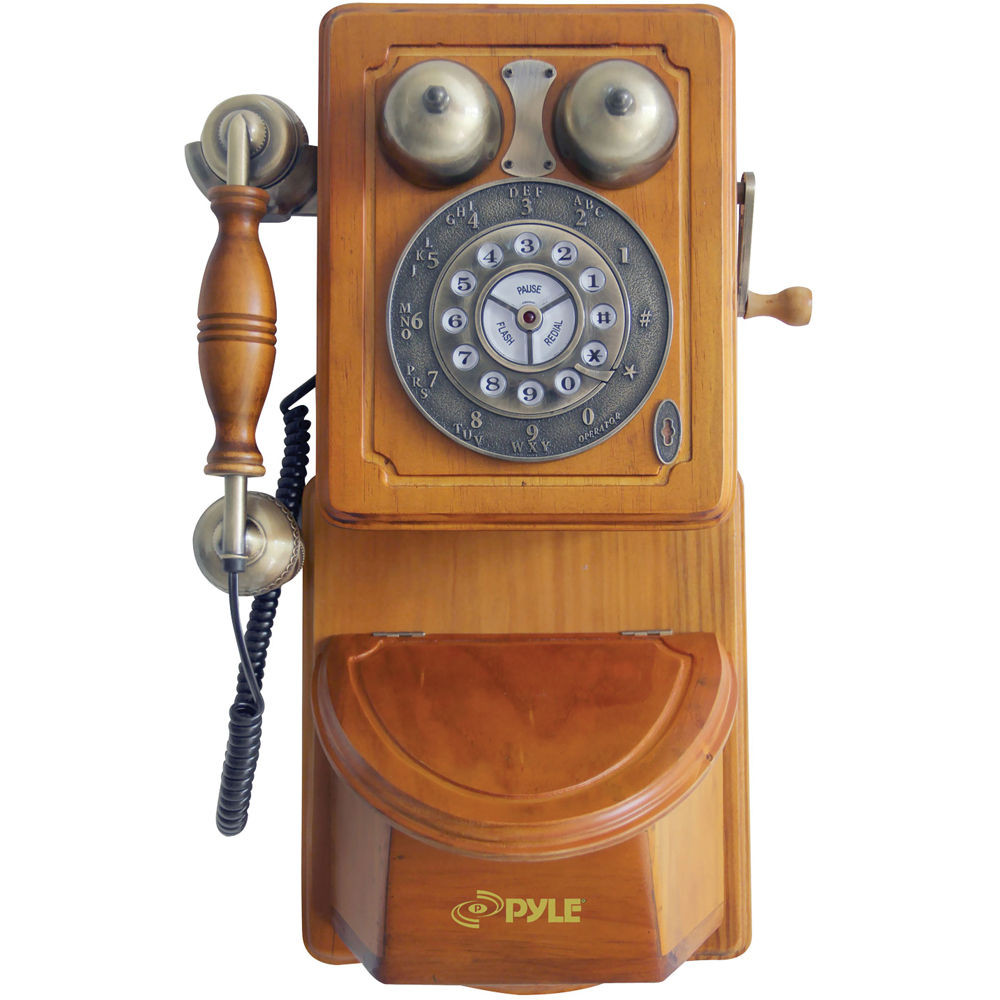 Awesome Pyle Home Retro themed Country Style Antique Wall Mount Prt45 Old Wooden Phone Of Adorable 43 Images Old Wooden Phone