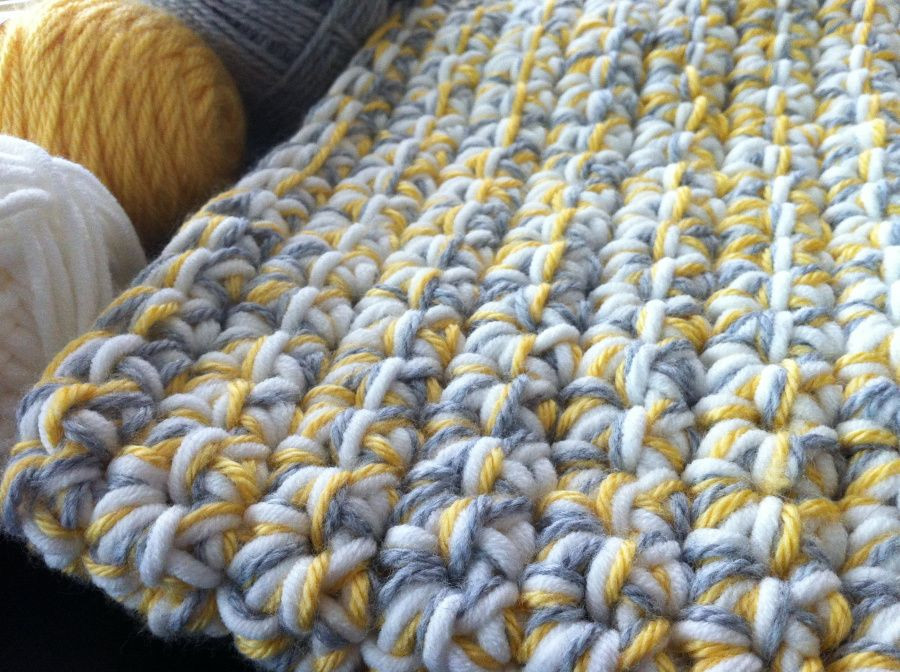Awesome Quick Baby Blanket Using Extra Large Crochet Hook and 3 Oversized Yarn Blanket Of Amazing 46 Models Oversized Yarn Blanket