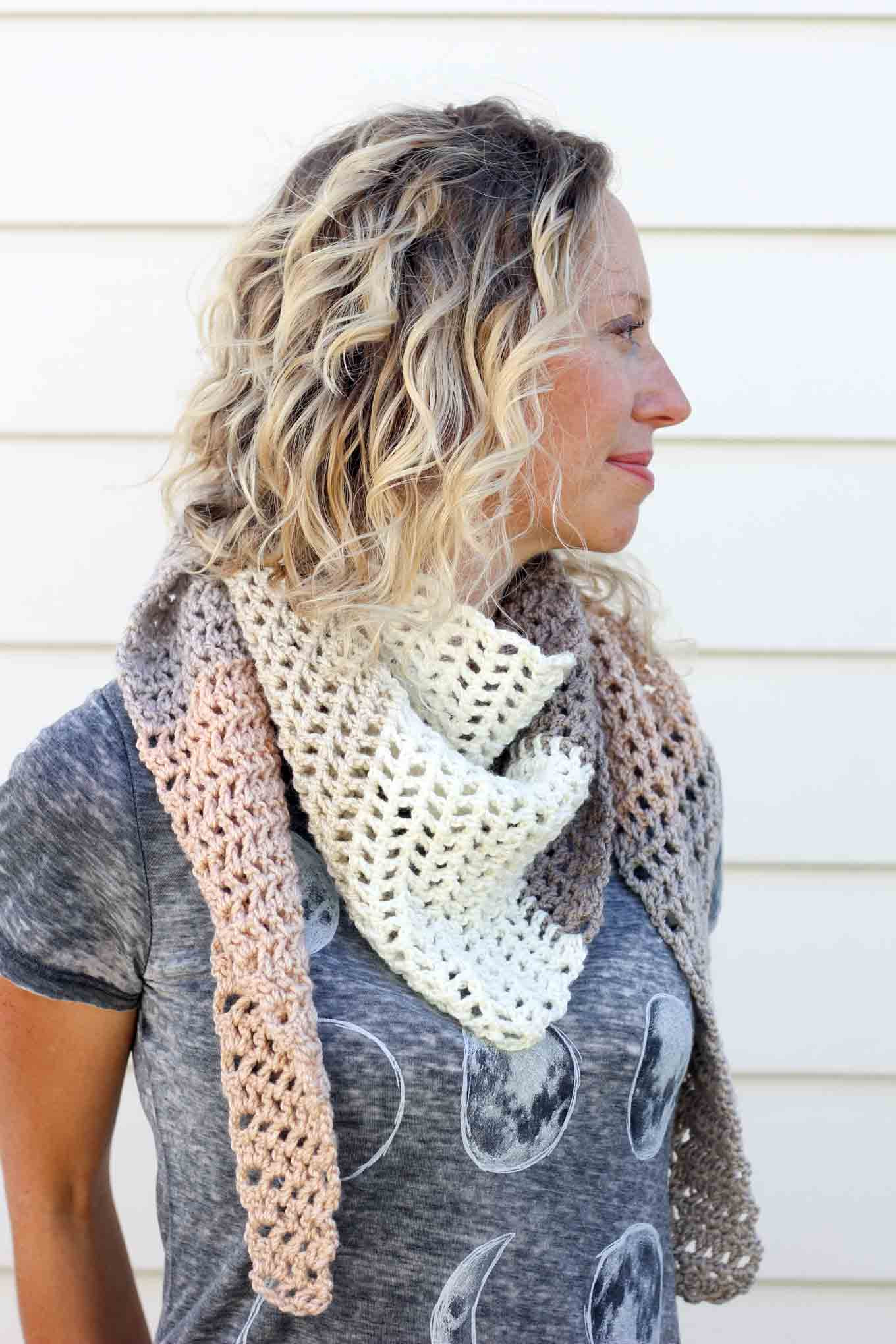 """Awesome """"piece Of Cake Cowl"""" with Caron Cakes Yarn Free Crochet Crochet Triangle Scarf Of New 50 Images Crochet Triangle Scarf"""