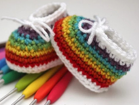 Awesome Rainbow Easy Crochet Baby Booties Crochet Newborn Baby Booties Of Incredible 49 Models Crochet Newborn Baby Booties