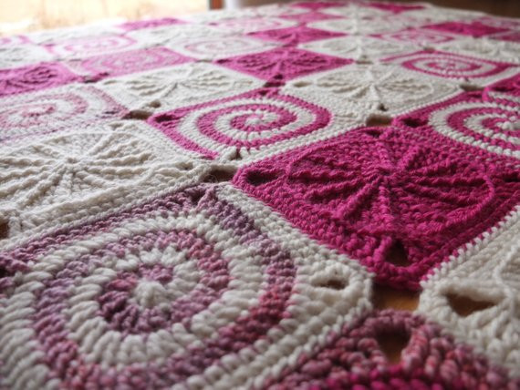Awesome Raspberry Cream Confection soft Merino Wool Spiral Crochet Spiral Blanket Of Amazing 49 Models Crochet Spiral Blanket