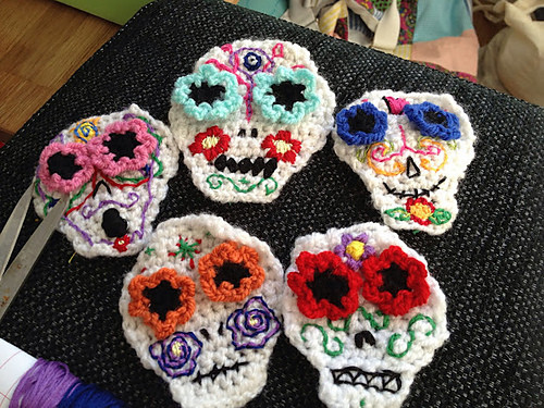Awesome Ravelry Roundup 10 Free Sugar Skulls Just Stitched Crochet Sugar Skull Of Incredible 47 Pictures Crochet Sugar Skull