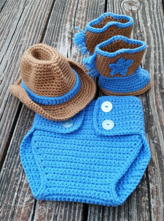 Awesome Ready to Ship Crochet Baby Cowboy Set Booties Cowboy Hat Crochet Baby Cowboy Hat Pattern Free Of Innovative 40 Pics Crochet Baby Cowboy Hat Pattern Free
